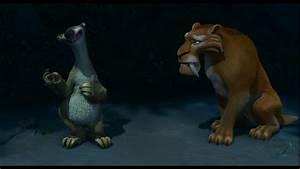Ice Age 2 The Meltdown- Sid teaches Diego how to swim ...