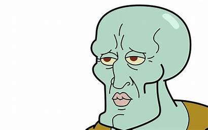 Squidward Handsome Meme Wallpapers Face Spongebob Nothing