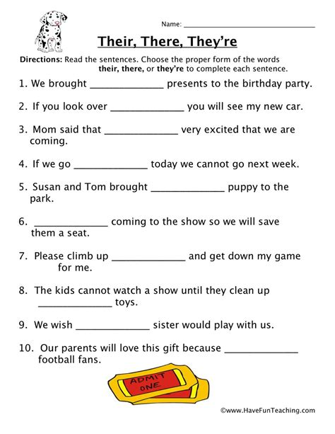 homophones worksheets page     fun teaching