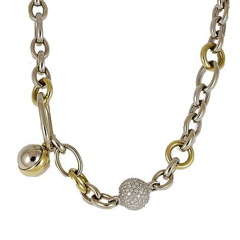 pomellato collane collana in oro bianco e giallo con diamanti pomellato