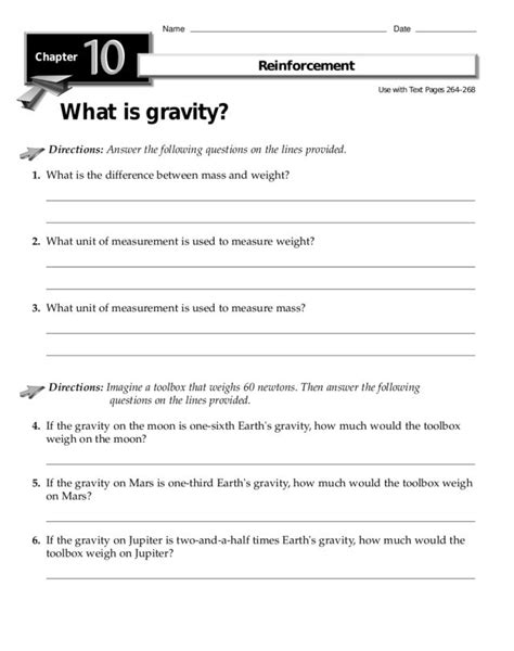 of gravity worksheet what is gravity worksheet for 2nd 3rd grade lesson planet