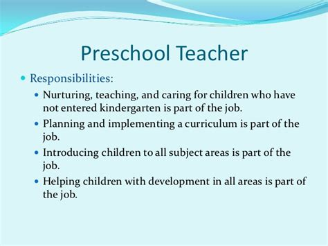 career possibilities   early childhood field