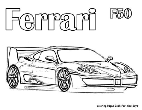 ferrari clipart colouring page pencil   color