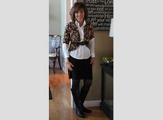 White Blouse + Black Pencil Skirt = 3 Outfits