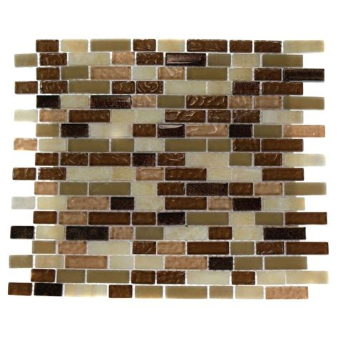 home depot tiles splashback tile southern comfort brick pattern 12 in x 12 in x 8 mm marble and glass mosaic