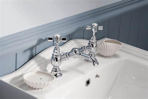 premier traditional luxury bridge chrome basin mixer tap