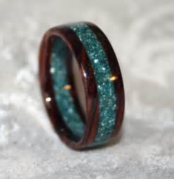 non traditional engagement ring custom wooden or corian wedding band or ring
