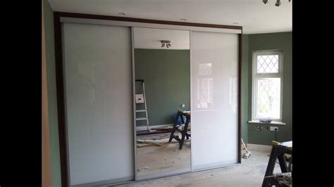 white metal mirror custom sliding glass doors custom size