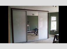Custom Made Sliding Door Wardrobe White Glass Mirror