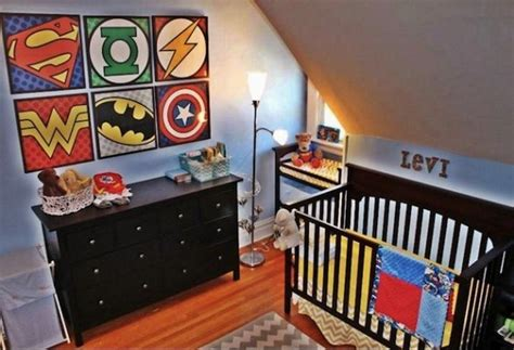 comic themed bedroom superhero interior design dc comics revmodern