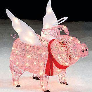 trim a home 174 28 lighted pig outdoor