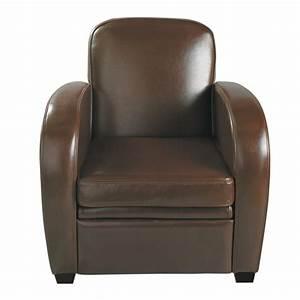 Fauteuil Maison Du Monde : fauteuil club en cuir chocolat harvard maisons du monde ~ Teatrodelosmanantiales.com Idées de Décoration