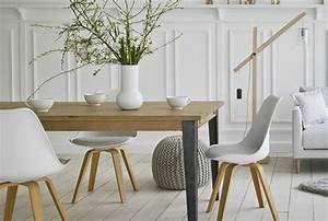 deco interieure chaises scandinaves esprit nordique et With idee deco cuisine avec chaises salle À manger bois et tissu
