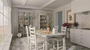 decoration maison de campagne un melange de styles chic With deco cuisine avec chaises salon blanches