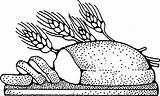 Bread Coloring Healthy sketch template