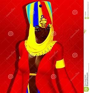 Black Egyptian Woman, Princess, Pharaoh Or Queen. Stock ...