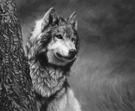 Black And White Painting By Lucie Bilodeau