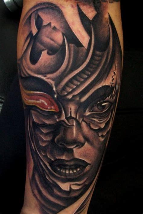 biomech face aluvha tattoo alain head artelistacom en