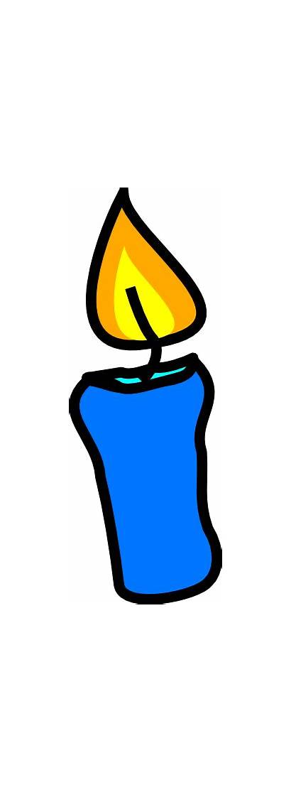 Candle Clipart Birthday Clip Candles Cartoon Single