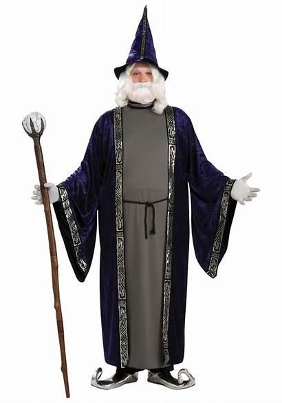 Wizard Costume Costumes Warlock Plus Sorcerer Merlin