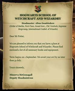 hogwarts acceptance letter hogwarts 11th birthday and With hogwarts school of witchcraft and wizardry letter