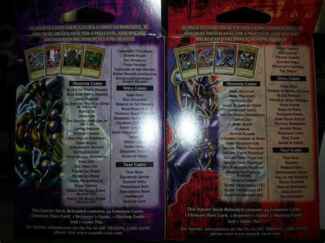 starter decks yugi kaiba reloaded spoiler lists the organization