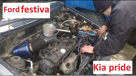 ford festiva ili kia pride sem radiatora youtube