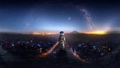 Astronaut Space Deviantart Wallpapers Artwork Creative Background