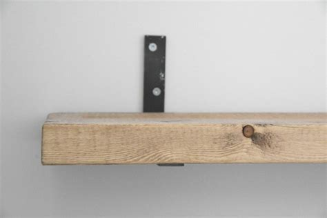 wood shelf brackets floating wood shelf easy diy floating shelves the sweetest digs