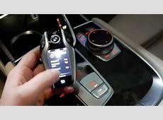 2016 BMW 7 series G11G12 car key with display YouTube