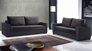canape italien 3 places en tissu marron canape design With canapé 3 places tissu marron