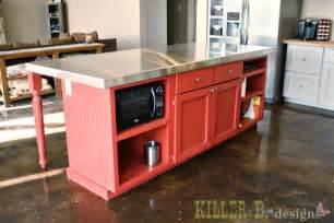 kitchen island base cabinet a handbuilt vintage country kitchen killer b designs