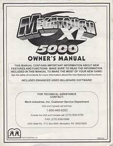 Megatouch Xl 5000 Manual For Sale