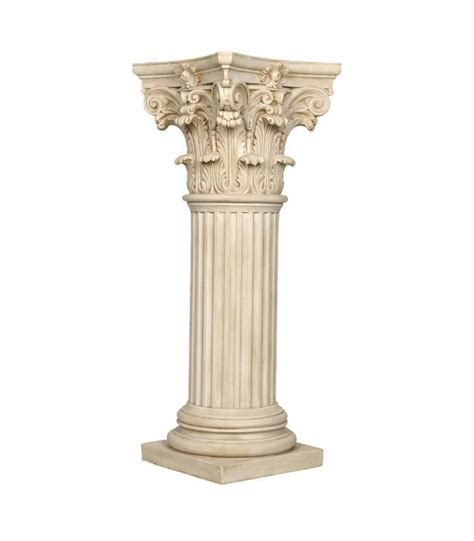 decorative column  striated shaft  corinthian capitel