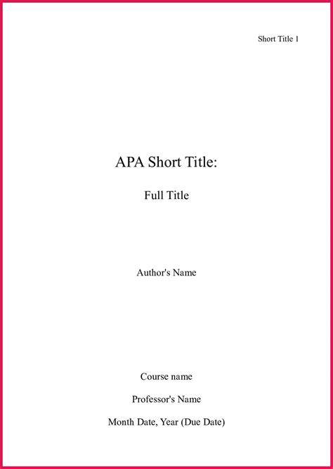 Title Page Template How To Make A Title Page Mla Sop Exles