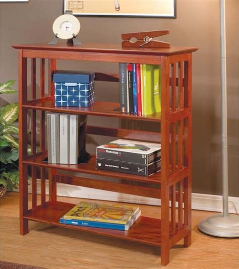 shop  mission style solid wood bookcase