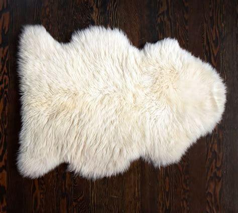 sheep skin rug sheepskin rug pottery barn
