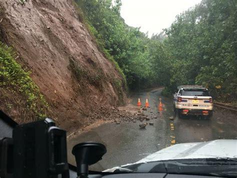 landslide cleared kuhio highway open  garden island