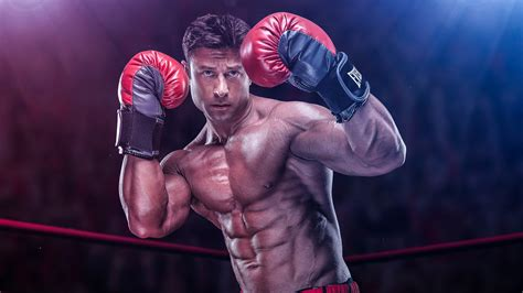 Muscle Man With Boxing Gloves HD Boxing Wallpapers | HD ...