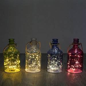 Flasche Mit Lichterkette : beleuchtete flasche in pink mit 20er led lichterkette ~ Lizthompson.info Haus und Dekorationen