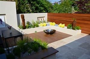 Modern, Garden, Design, Outdoor, Room, With, Kitchen, Seating, Hardwood, Screen, London, Designer, Cat