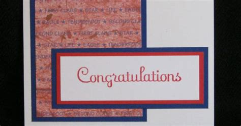 boy scout congratulations card red white blue red