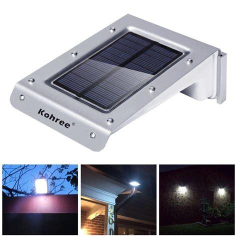 solar powered door light kohree 20 led solar powered motion sensor outdoor light