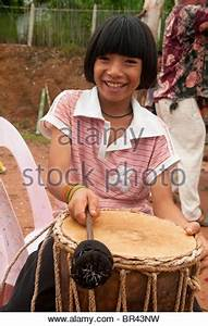 Akha hill tribe girl of Northern Thailand. Chiang Mai ...