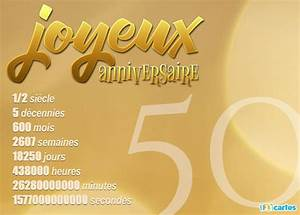 Faire Part Anniversaire 50 Ans : carte anniversaire 50 ans imprimer carte invitation fete ~ Edinachiropracticcenter.com Idées de Décoration