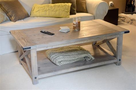 woodwork coffee table plans rustic  plans