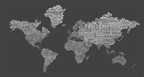 Black And Red Living Room Ideas by 1 World Text Map Wall Mural Inverse Grey Modern Wall