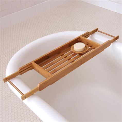 Bamboo Bath Caddy Nz by 15 Bathtub Tray Design Ideas For The Bath Enthusiasts Among Us