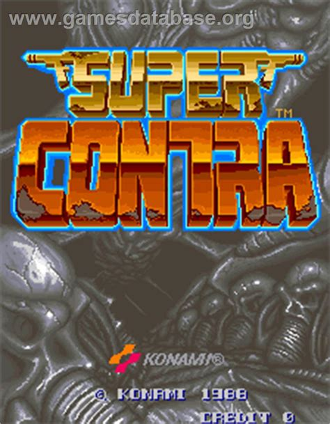 Super Contra Arcade Games Database