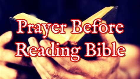 Prayer Before Reading Bible